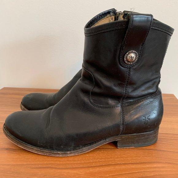 Frye Melissa Short Button Boots